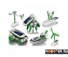 Робот конструктор на солнечных батареях 6 в 1