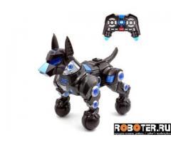 Робот собака черный